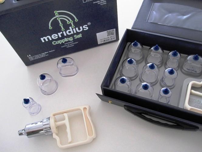 Schröpfgläserset Meridius mit Pumpe und Verlängerungsschlauch